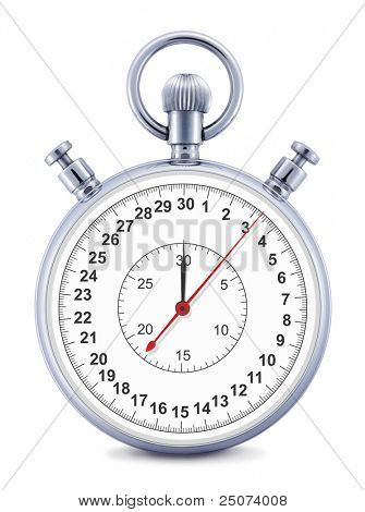 Stopwatch  isolated on the white background, clipping path included.