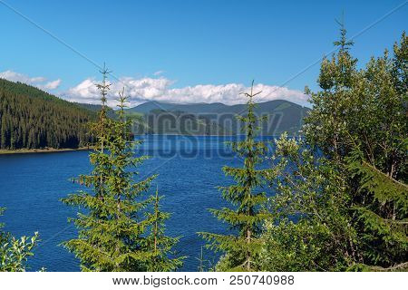 Vidra Dam Lake In Romania
