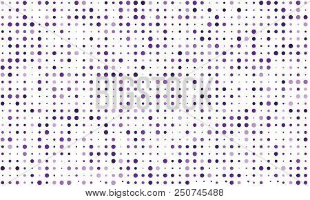 Vector Seamless Background Of Many Colored Circles Of Random Size And Random Shade. Shades Of Purple