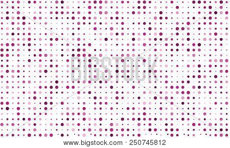 Vector Seamless Background Of Many Colored Circles Of Random Size And Random Shade. Shades Of Pink