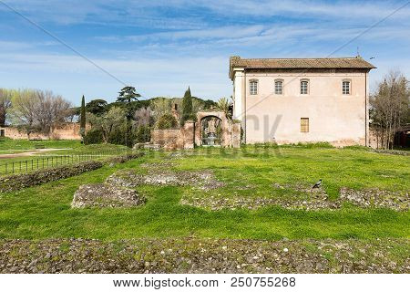 Old Romantic House At The Palatine-hill, Rome, Italy, Europe