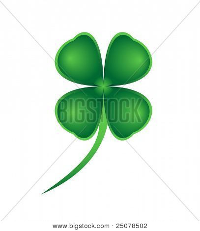 A lucky green four leaved clover for St Patrick's Day.