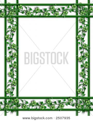 St Patricks Day Border Of Shamrocks And Ivy