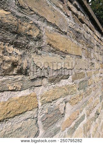 Mauer Grüner Sandstein  Wall Sandstone Green Steine Stones
