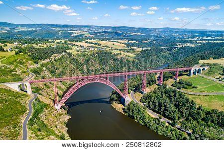 Garabit Viaduct, A Railway Arch Bridge Constructed By Gustave Eiffel. Cantal, France