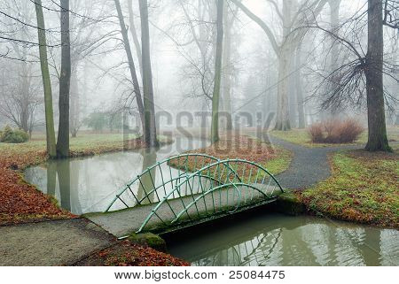 Small Bridge Over A Rivulet