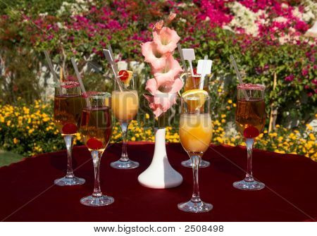 Cocktails On The Table