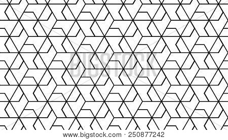The Geometric Pattern With Lines. Seamless Vector Background. White And Black Texture. Graphic Moder