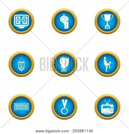 Arbitrator Icons Set. Flat Set Of 9 Arbitrator Vector Icons For Web Isolated On White Background