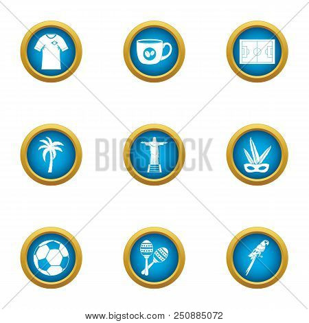 Heavenly Place Icons Set. Flat Set Of 9 Heavenly Place Vector Icons For Web Isolated On White Backgr