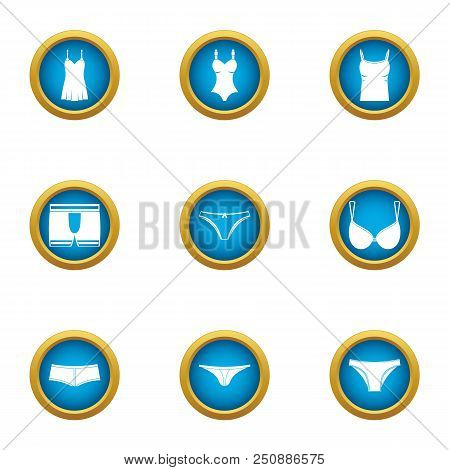 Womanlike Icons Set. Flat Set Of 9 Womanlike Vector Icons For Web Isolated On White Background