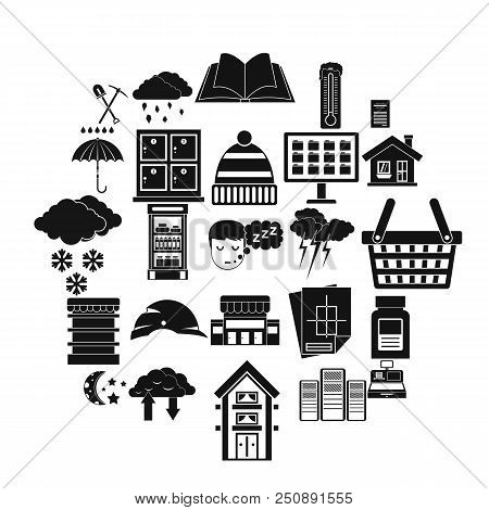 Warm House Icons Set. Simple Set Of 25 Warm House Vector Icons For Web Isolated On White Background