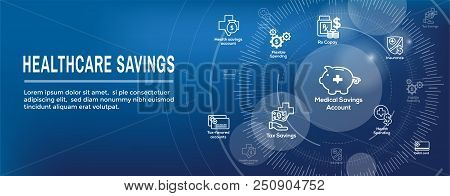Medical Tax Savings Web Header Banner With Health Savings Account Or Flexible Spending Account - Hsa