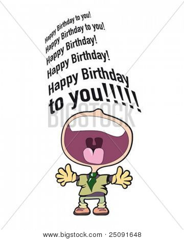 happy birthday singer card