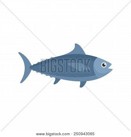 Tuna Fish Icon. Flat Illustration Of Tuna Fish Vector Icon For Web Isolated On White