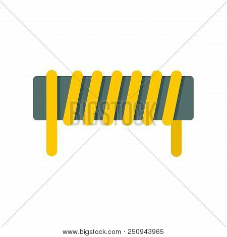 Induction Spring Coil Icon. Flat Illustration Of Induction Spring Coil Vector Icon For Web Isolated