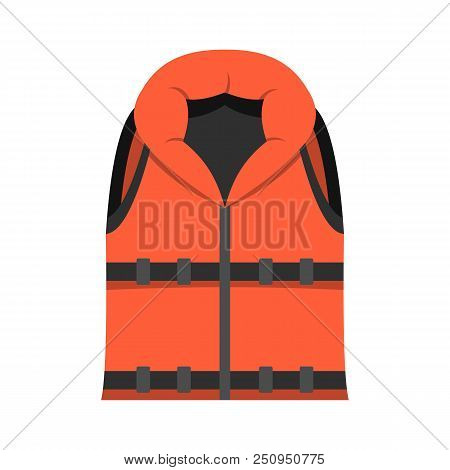 Lifeguard Vest Icon. Flat Illustration Of Lifeguard Vest Vector Icon For Web Isolated On White