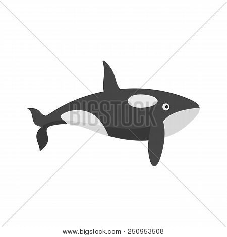 Orca Whale Icon. Flat Illustration Of Orca Whale Vector Icon For Web Isolated On White