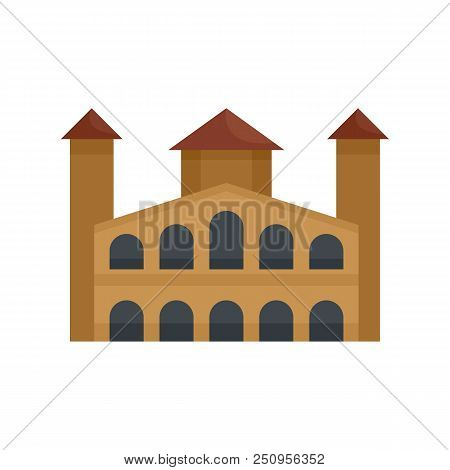 Hystorical Building Icon. Flat Illustration Of Hystorical Building Vector Icon For Web Isolated On W