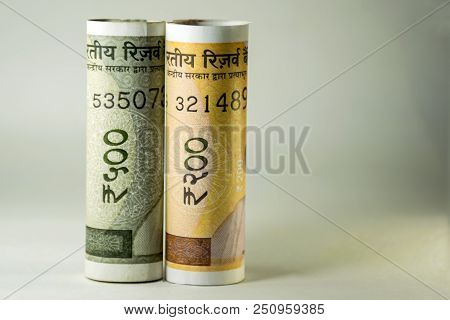 New Indian Currency Two Thousand Two Hundred And Five Hundred Note