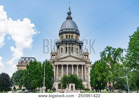 Illinois State Capital Building In Springfield, Illinois