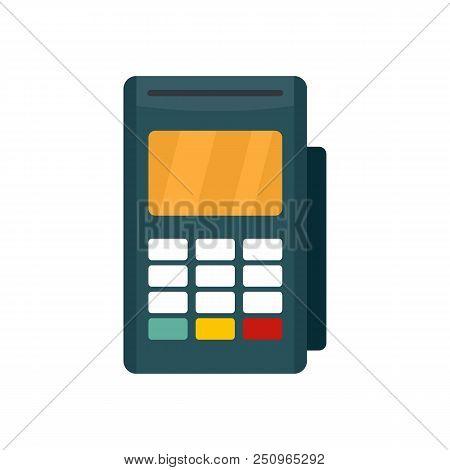 Credit Card Reader Icon. Flat Illustration Of Credit Card Reader Vector Icon For Web Isolated On Whi
