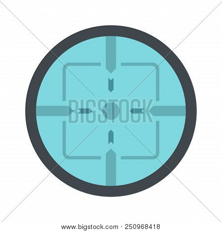 Sniper Elite Aim Icon. Flat Illustration Of Sniper Elite Aim Vector Icon For Web Isolated On White