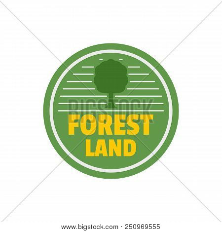 Forest New Land Logo. Flat Illustration Of Forest New Land Vector Logo For Web Isolated On White