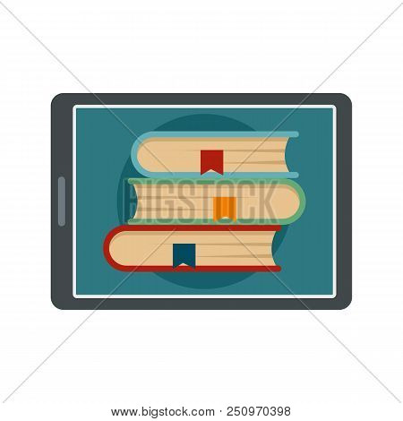Electronic Book Icon. Flat Illustration Of Electronic Book Vector Icon For Web Isolated On White