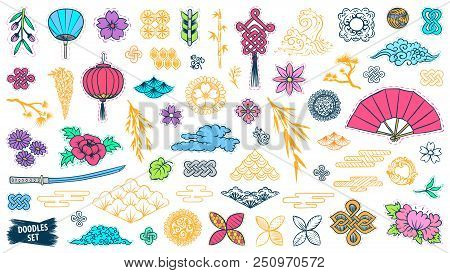 Asian Patch Badges Vector Photo Free Trial Bigstock