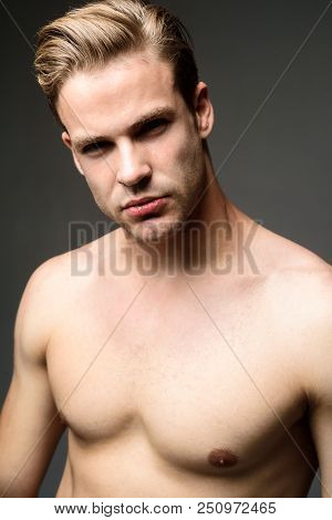 Sexy Male Model. Athletic Bodybuilder Man. Muscular Sexy Man. Handsome Topless Male Model. Guy With