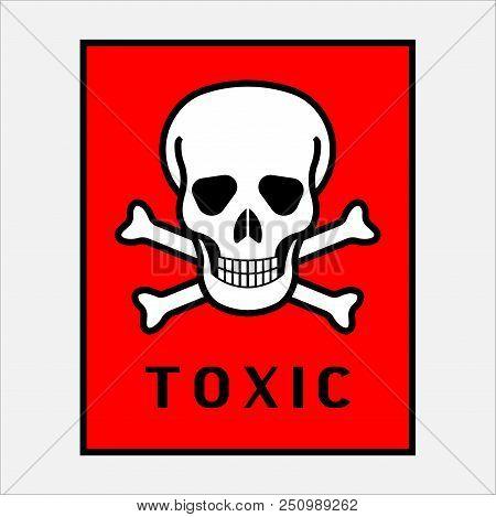 Acute Toxicity, Hazard Warning Sign Acute Toxicity, Isolated Vector Illustration