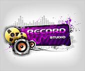Recording Music banner poster
