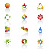 Set of original logos. Vector 3 poster