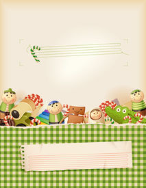Sweet green childhood memories- background with space for text