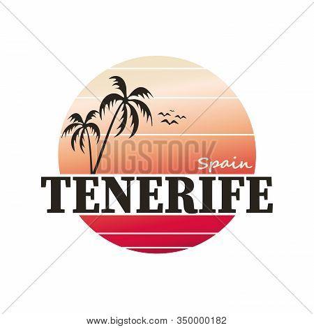 Tenerife Colorful Gradient Travel Logo T-shirt Design