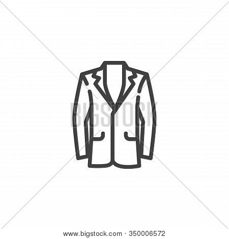 Mens Suit Jacket Line Icon. Linear Style Sign For Mobile Concept And Web Design. Business Suit Jacke