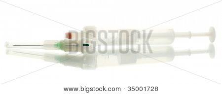 syringe monovet isolated on white