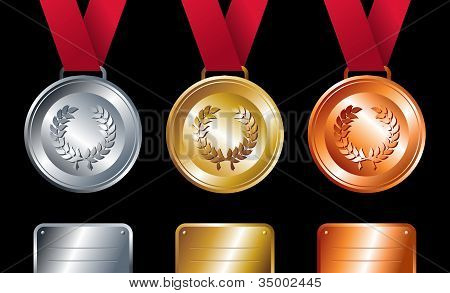 Sport Winners: Gold, Silver And Bronze Medals
