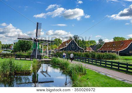 Zaanse Schans, Netherlands - September 23, 2015: View Of The Village Of Zaanse Schans S Netherlands.