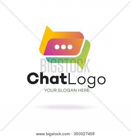 Chat Logo Modern Style Isolated On Background For Social Media, Communication, Chat Bot, Chatting Te