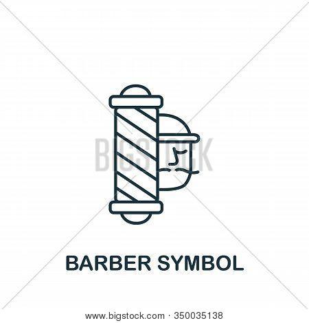 Barber Symbol Icon From Barber Shop Collection. Simple Line Element Barber Symbol Symbol For Templat