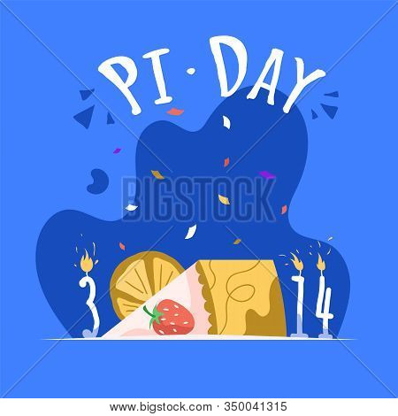 Pi 3, 14 Day Vertical Poster Template. Annual Celebration Of The Mathematical Constant Pi On March 1