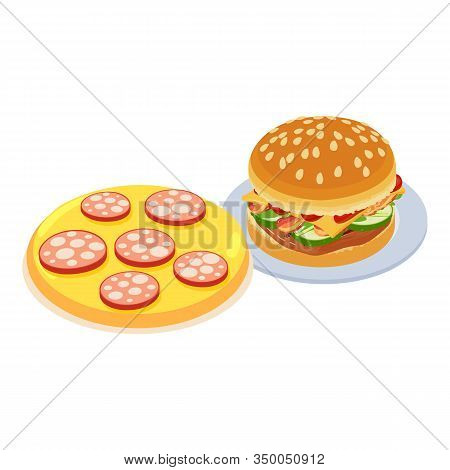 Fastfood Meal Icon. Isometric Illustration Of Fastfood Meal Vector Icon For Web
