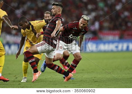 Rio, Brazil - February 08, 2020: De Arracaeta In Match Between Flamengo And Madureira By The Carioca