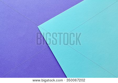 Abstract Asymmetric Geometric Water Color Paper Background In Soft Pastel Purple And Blue Trend Colo