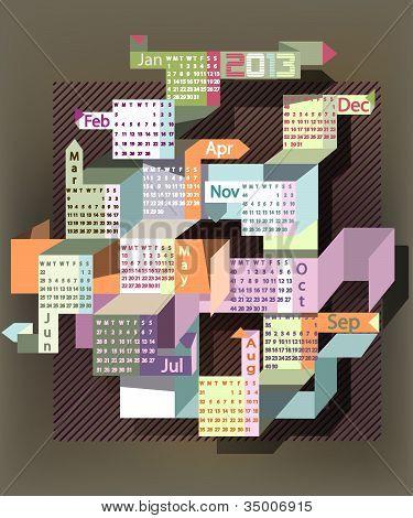 Abstract Calendar 2013