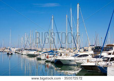 Argeles Sur Mer, France - July 9, 2016: Port Argeles-sur-mer In Pyrenees-orientales Department, Lang