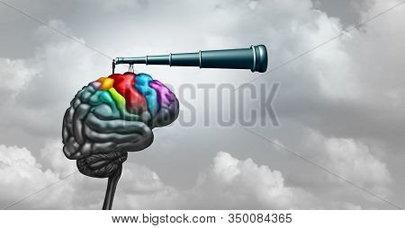 Brain Research Neuroscience Concept And Creativity Idea As A Symbol For Mental Health Psychology Or