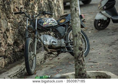 Old Vintage Motorcycle Deteriorated